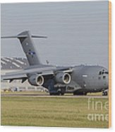 A C-17 Globemaster Strategic Transport Wood Print