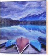 A Calm Afternoon At Lake Edith Wood Print