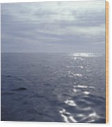 A Calm Ocean With Small Ripples Wood Print