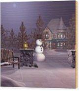A Calm Winters Night Wood Print