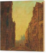 A Canal In Venice Wood Print