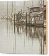 A Canal View Wood Print
