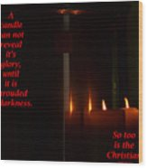 A Candle Wood Print