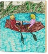 A Canoe Ride Wood Print