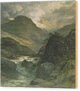 A Canyon Wood Print
