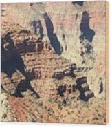 A Canyon Scene Wood Print