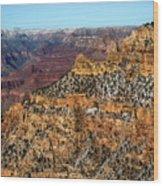A Canyon Winter Wood Print