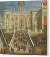 A Capriccio View Of The Campidoglio Wood Print
