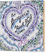 A Caring Heart Wood Print