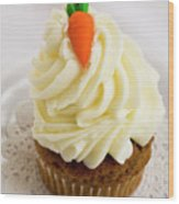 A Carrot Muffin Wood Print