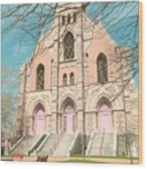 A Catholic Parish Wood Print