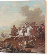 A Cavalry Skirmish Wood Print