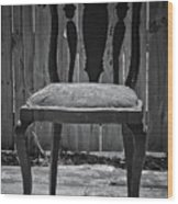 A Chair In Despair Wood Print