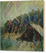A Chance In The World Movie Dark Barn Crowded Into A Gully Between A Large Rocky Hill And A Grove Of Wood Print