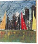 A Chicago Sail Wood Print