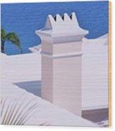 A Chimney At Tucker's Point, Bermuda Wood Print