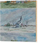 A Church For All Seasons Wood Print