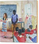 A Classroom In Africa Wood Print