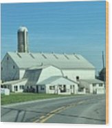 A Clear Amish Day Wood Print