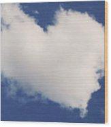 A Cloud Heart Wood Print