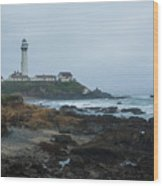 A Cloudy Day At Pigeon Point Wood Print