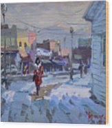 A Cold Afternoon In Tonawanda Wood Print