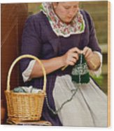 A Colonial Lady Knits Wood Print