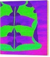 A Colourful  Vase Wood Print
