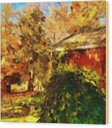 A Corner Of Autumn  Wood Print