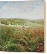 A Corner Of The Field In Bloom Wood Print