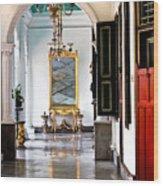 A Corridor In Keraton Sultan Palace Yogyakarta  Wood Print