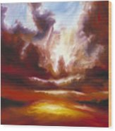 A Cosmic Storm - Genesis V Wood Print