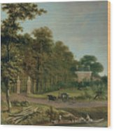 A Country House Wood Print