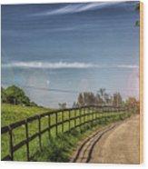 A Country Lane Wood Print