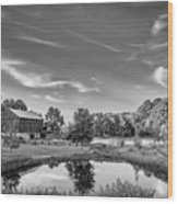 A Country Place Bw Wood Print