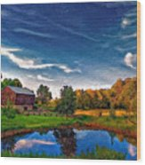 A Country Place Painted Version Wood Print