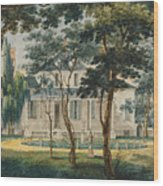A Country Residence Possibly General Moreau's Country House At Morrisville Pennsylvania Wood Print