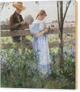 A Country Romance Wood Print