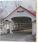 A Covered Bridge Wood Print