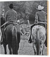 A Cowboys Life Wood Print
