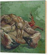 A Crab On Its Back - 1988 Wood Print