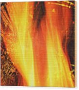 A Cracking Flame Wood Print