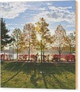 A Crisp Fall Morning Wood Print
