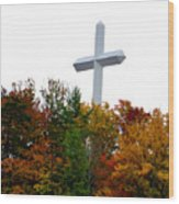 A Cross In Tennessee Wood Print