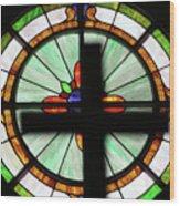 A Cross Window Wood Print