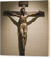 A Crucifix In The Old Saint Francis Wood Print