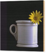 A Cup Of Flower Wood Print
