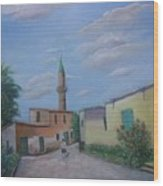 A Cypriot Village Wood Print