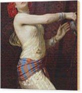 A Damascan Dancer Wood Print