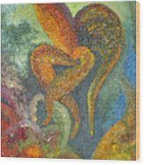 A Dancing Flower Wood Print